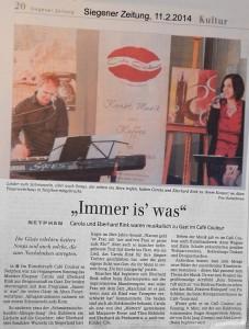 Siegener Zeitung 11.2.2014